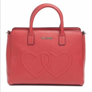 LOVE Moschino Embossed Hearts Bag Valentine